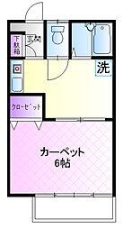 湯田コーポ(和田)[2f号室]の間取り