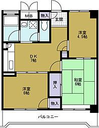 フホーハイツ[2階]の間取り