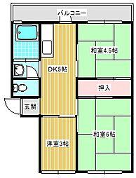 南港厚生年金住宅3号棟[406号室]の間取り