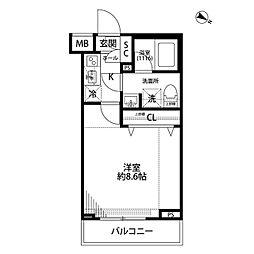 プレール・ドゥーク志村三丁目[105号室]の間取り