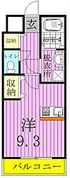 ツリーデン松戸II[2階]の間取り