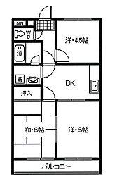 三和ビル[4階]の間取り