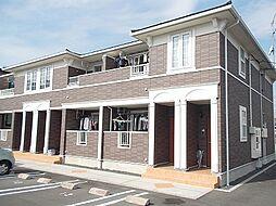 岡山県岡山市北区門前の賃貸アパートの外観