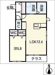 仮)神守町メゾン 東棟 1階1SLDKの間取り