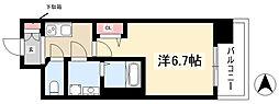 S-RESIDENCE上前津 15階1Kの間取り