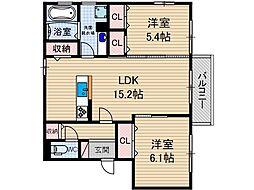 仮称)D-room中河原町[1階]の間取り