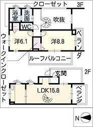 メゾネットミユキ(WS)[3階]の間取り