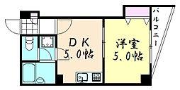 プチハイム真田山[502号室]の間取り