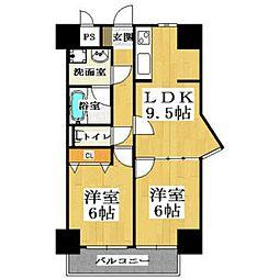 BGC難波タワー[607号室号室]の間取り