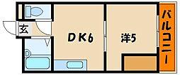 ハイツ長畑[3階]の間取り