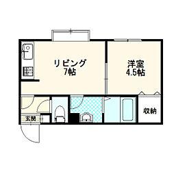 北海道札幌市厚別区厚別中央三条1丁目の賃貸アパートの間取り