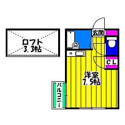 パレット東比恵Ⅰ[1階]の間取り