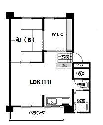 吉川マンションB棟[402号室]の間取り