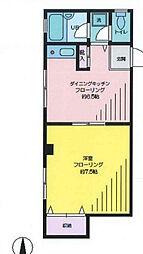 シャトレーイースト[2階]の間取り