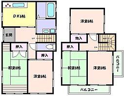 [一戸建] 兵庫県芦屋市三条町 の賃貸【/】の間取り