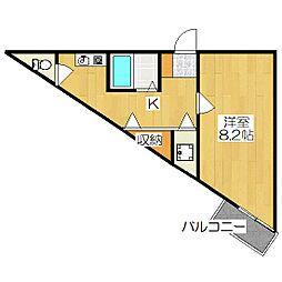 プレサンス京都駅前[803号室]の間取り
