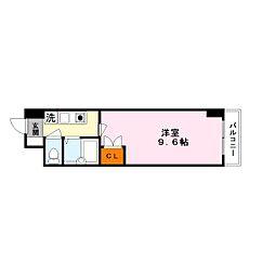 シャンドフルール竹村[4階]の間取り