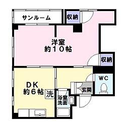 誠和マンション[3階]の間取り