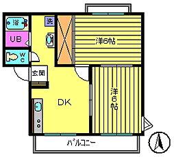 11パナハイツ吉野[2階]の間取り