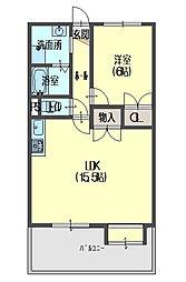 ブランドールM3[3階]の間取り