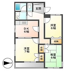 PIAA YOSHINO(ピア ヨシノ)[4階]の間取り