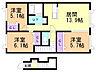 間取り,3LDK,面積72.43m2,賃料7.0万円,バス JRバス富丘5条3丁目下車 徒歩4分,,北海道札幌市手稲区富丘五条4丁目3番11号