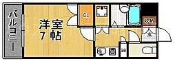 ディアマンテ薬院[4階]の間取り