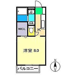 Mハイツ[2階]の間取り