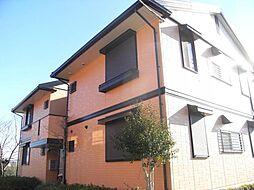 茨城県常総市内守谷町きぬの里2丁目の賃貸アパートの外観