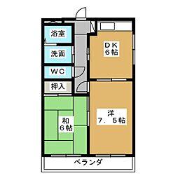 プログレス[3階]の間取り