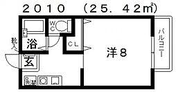 コニファー[105号室号室]の間取り