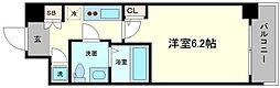 アドバンス西梅田ラシュレ[10階]の間取り