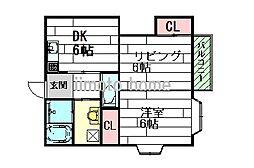 吉川ハイツ[2階]の間取り