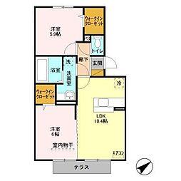 マーレ金田[1階]の間取り