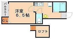 メゾンドタクト[1階]の間取り