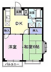エルディム藤ニュータウン3[2階]の間取り