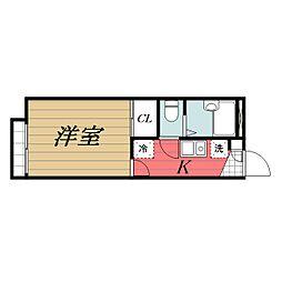 JR総武線 千葉駅 バス15分 都町下車 徒歩3分の賃貸アパート 2階1Kの間取り