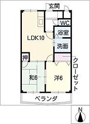 シオンタカオキ[3階]の間取り