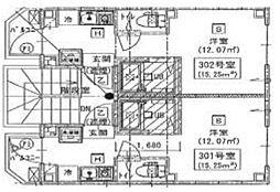 新築 シックス新宿(賃料下がりました)[202号室号室]の間取り