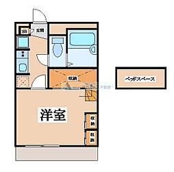 大阪府東大阪市池島町3丁目の賃貸アパートの間取り