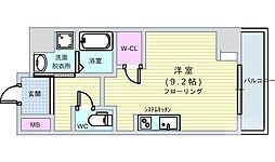 Osaka Metro長堀鶴見緑地線 西大橋駅 徒歩1分の賃貸マンション 5階ワンルームの間取り