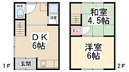 [テラスハウス] 兵庫県川西市花屋敷1丁目 の賃貸【/】の間取り