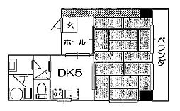 山幸マンション[402号室号室]の間取り
