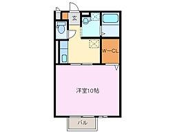 三重県四日市市富田2丁目の賃貸アパートの間取り