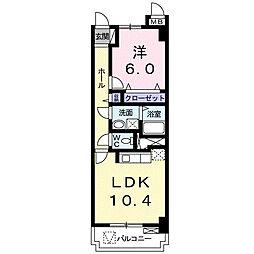 グランパレス浜松[2階]の間取り