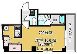 プラージュ東千葉[701号室]の間取り