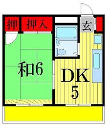 千葉県習志野市藤崎4丁目の賃貸マンションの間取り