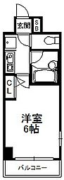 エスリード松屋町[6階]の間取り