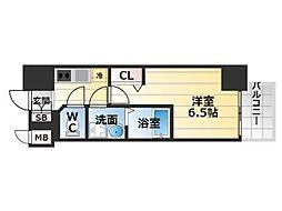 Osaka Metro中央線 九条駅 徒歩2分の賃貸マンション 11階1Kの間取り