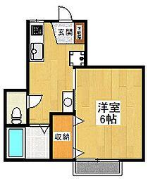 東京都狛江市東和泉3丁目の賃貸アパートの間取り